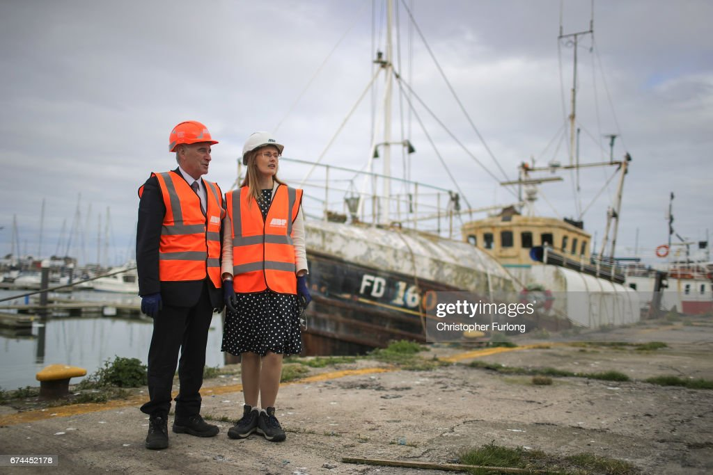 John McDonnell Visits Fleetwood Fishing Port To Highlight Labour's Plan For A Regional Investment Bank