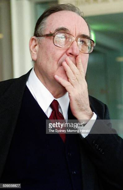 Labour Speech Auction Picture shows Graham Freudenberg former ALP speechwriter 13 June 2001 SMH Picture by EDWINA PICKLES