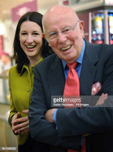 Labour supporter Richard Wilson and shadow chief secretary to the treasury Rachel Reeves meet staff and shoppers at a Morrisons supermarket in St...