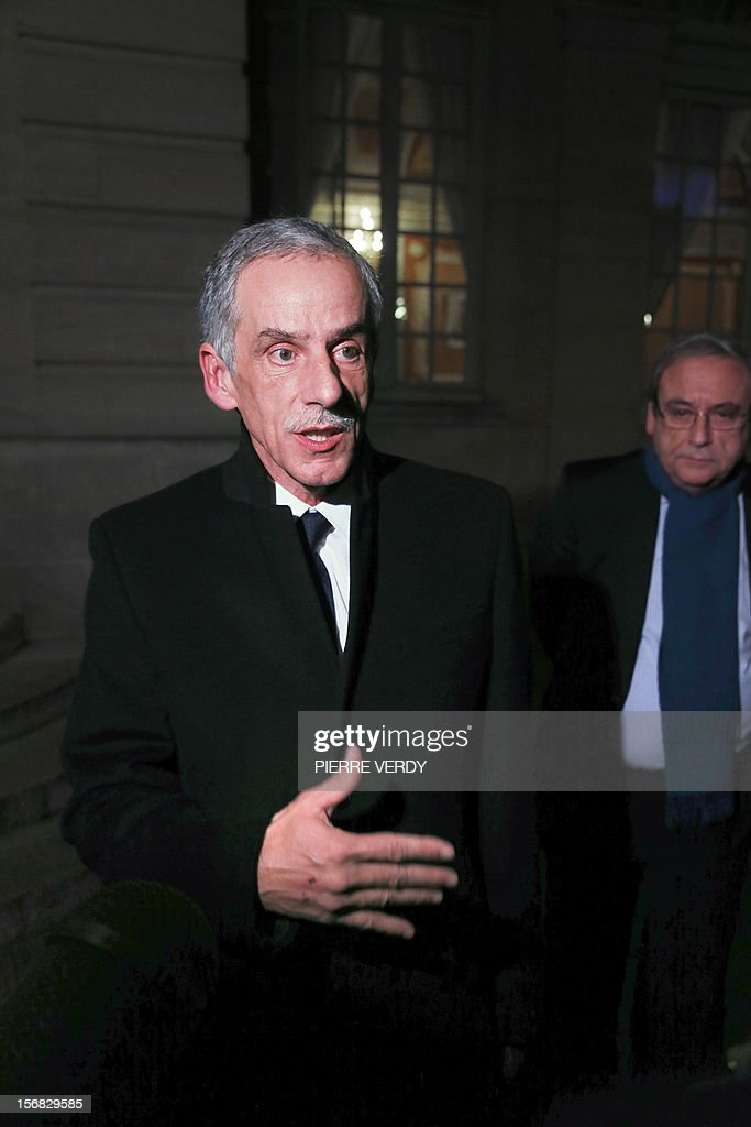 CFTC labour union leader Philippe Louis leaves on November 22, 2012 the hotel Matignon in Paris, after a meeting with French Prime Minister Jean-Marc Ayrault.