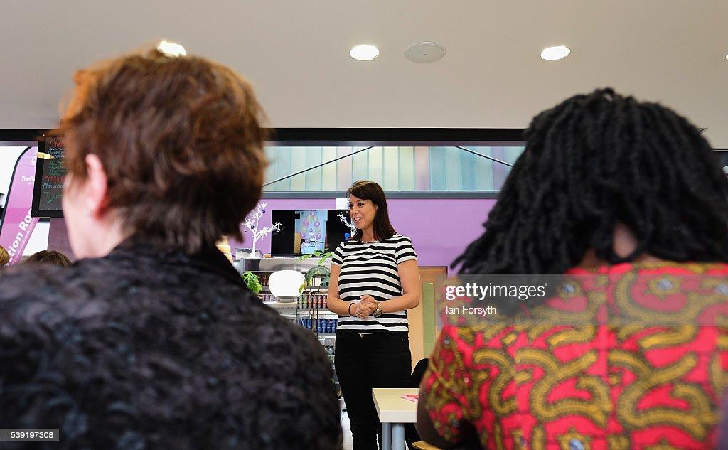Gloria de Piero Talks To Voters  For The Remain Campaign