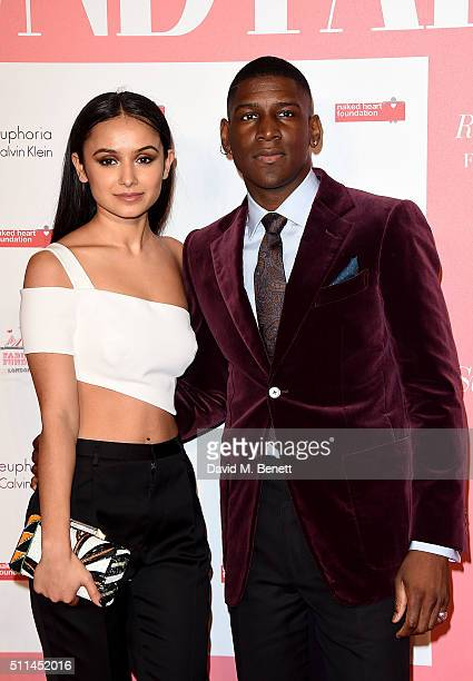 Labrinth and Muz at The Naked Heart Foundation's Fabulous Fund Fair in London at Old Billingsgate Market on February 20 2016 in London England