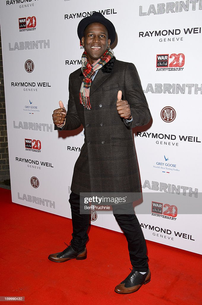 <a gi-track='captionPersonalityLinkClicked' href=/galleries/search?phrase=Labrinth+-+Musicista&family=editorial&specificpeople=7211457 ng-click='$event.stopPropagation()'>Labrinth</a> attends the Raymond Weil pre-Brit Awards dinner and 20th anniversary celebration of War Child at The Mosaica on January 24, 2013 in London, England.