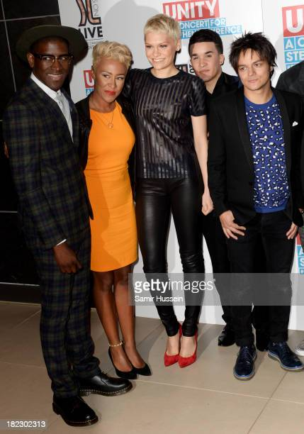 Labrinth Emeli Sande Jessie J Jahmene Douglas Jamie Cullum attend the Unity concert in memory of Stephen Lawrence at O2 Arena on September 29 2013 in...