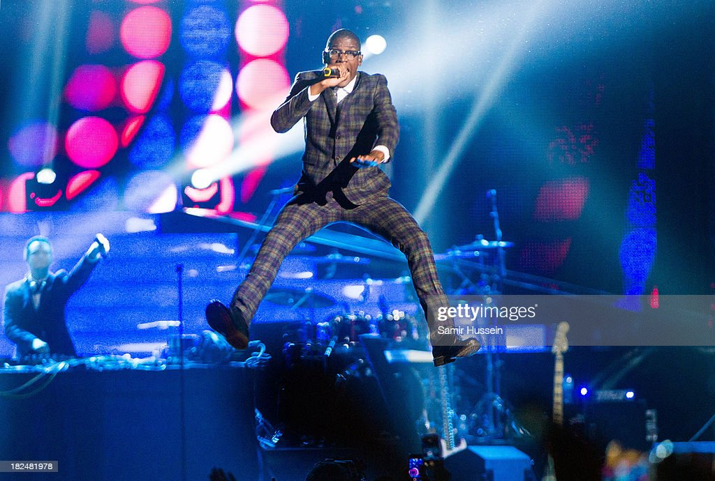 Labrinth performs live on stage at the Unity concert in memory of Stephen Lawrence at O2 Arena on September 29, 2013 in London, England.