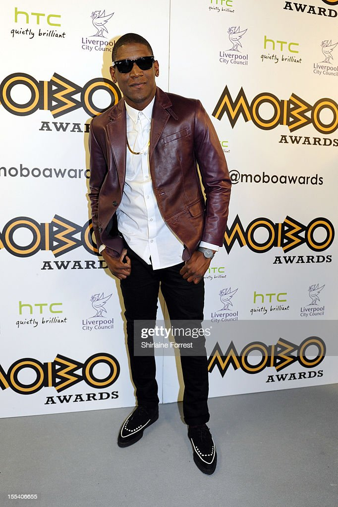 <a gi-track='captionPersonalityLinkClicked' href=/galleries/search?phrase=Labrinth+-+Musician&family=editorial&specificpeople=7211457 ng-click='$event.stopPropagation()'>Labrinth</a> poses in the awards room at the 2012 MOBO awards at Echo Arena on November 3, 2012 in Liverpool, England.