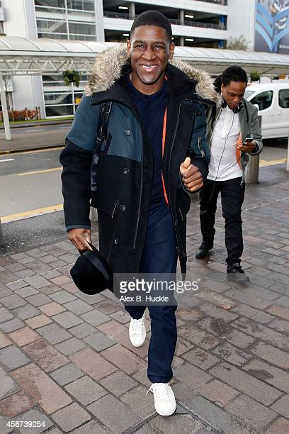 Labrinth seen arriving at Glasgow Airport after attending the MTV EMA's on November 10 2014 in Glasgow England Photo by Alex Huckle/GC Images