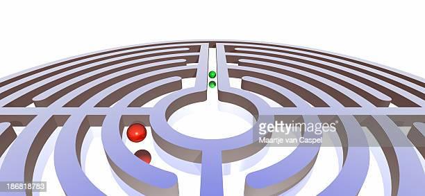 Labyrinth mit Bällen