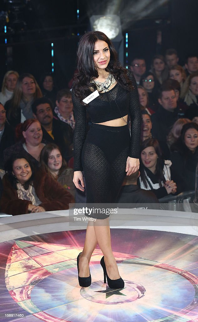 Lacey Banghard enters the Celebrity Big Brother House at Elstree Studios on January 3, 2013 in Borehamwood, England.