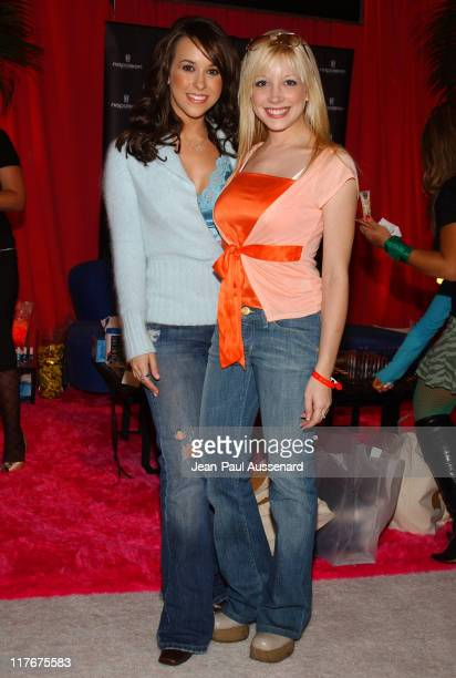 Lacey Chabert and Courtney Peldon at Napoleon Perdis Cosmetics Photo by JeanPaul Aussenard/WireImage for Silver Spoon