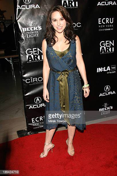 Lacey Chabert during Gen Art and Acura Present 'The New Garde' Fashion Show Arrivals at Park Plaza Hotel in Los Angeles California United States