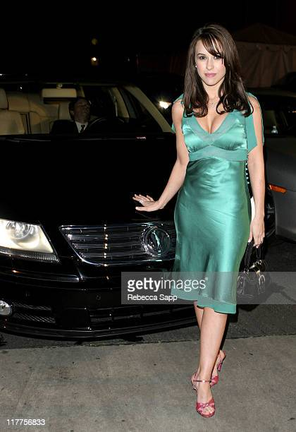Lacey Chabert with Volkswagen during 2005 Volkswagen Jetta Premiere Party Sponsor at The Lot in West Hollywood California United States