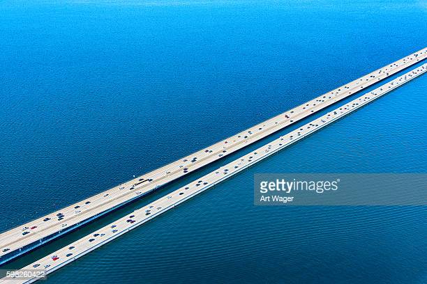 Lacey V Murrow Bridge Across Lake Washington in Seattle