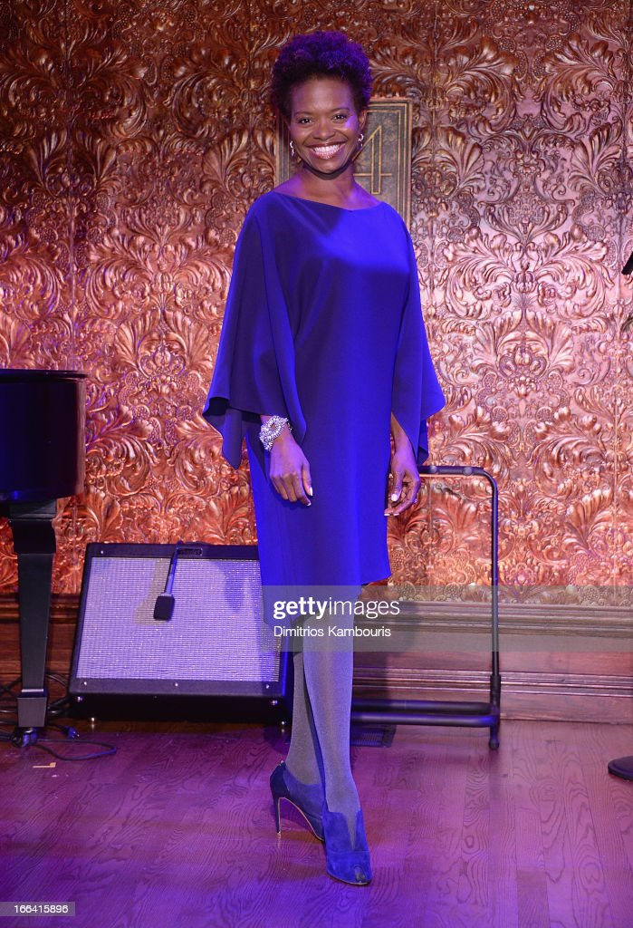 LaChanze attends the 54 Press Preview at 54 Below on April 12, 2013 in New York City.