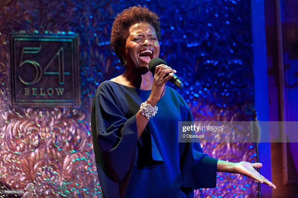 LaChanze performs during the Press Preview at 54 Below on April 12, 2013 in New York City.