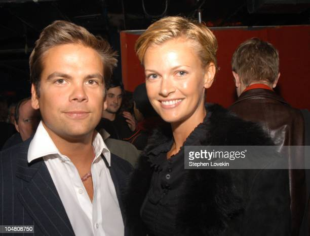 Lachlan Murdoch and Sara O'Hare during Pussycat Dolls New York Performance to endorse the Adidas Adrenaline fragrance for men at Irving Plaza in New...