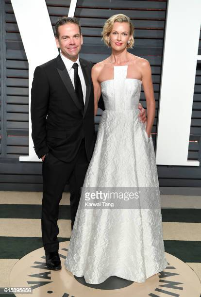 Lachlan Murdoch and Sarah Murdoch arrive for the Vanity Fair Oscar Party hosted by Graydon Carter at the Wallis Annenberg Center for the Performing...