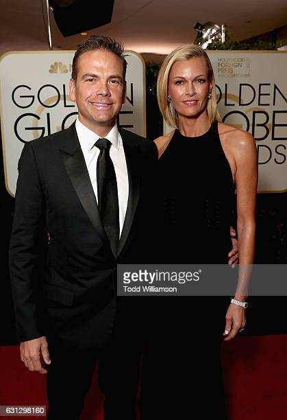 Lachlan Murdoch and Sarah Murdoch attend the 74th Annual Golden Globe Awards at The Beverly Hilton Hotel on January 8 2017 in Beverly Hills California