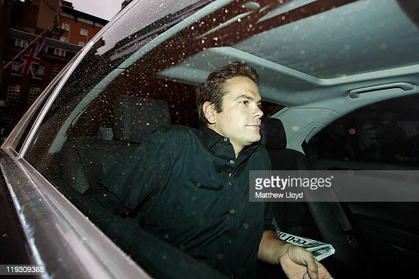 Lachlan Murdoch leaves his father Rupert's apartment on July 18 2011 in London England The phone hacking scandal surrounding News International has...