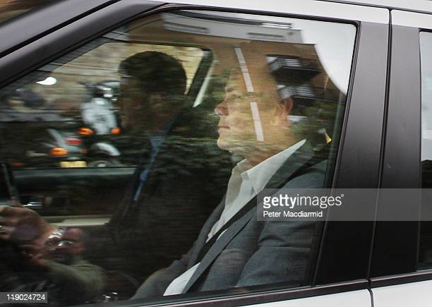 Lachlan Murdoch leaves News International headquarters on July 14 2011 in London England Parliament has issued a summons for Rupert and James Murdoch...