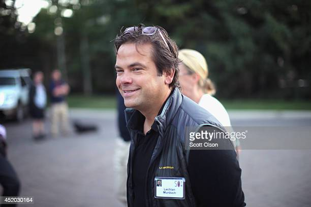 Lachlan Murdoch News Corp board member attends the Allen Company Sun Valley Conference on July 11 2014 in Sun Valley Idaho Many of the world's...