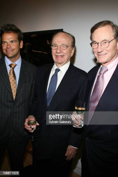 Lachlan Murdoch Rupert Murdoch and Tom Perkins during A party for Tom Perkins' new book 'Sex and the Zillionaire' at the Allan Stone Gallery on 113...