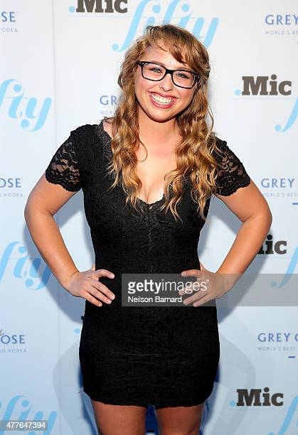 Laci Green attends GREY GOOSE Vodka Hosts The Inaugural Mic50 Awards at Marquee on June 18 2015 in New York City