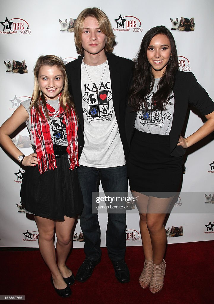 Laci Kay, Lou Wegner and Nicole Cummins attend the Follow The Stars/Adopt A Pet 2013 Rose Parade Float Unveiling held at the Beverly Hills City Hall on December 6, 2012 in Beverly Hills, California.