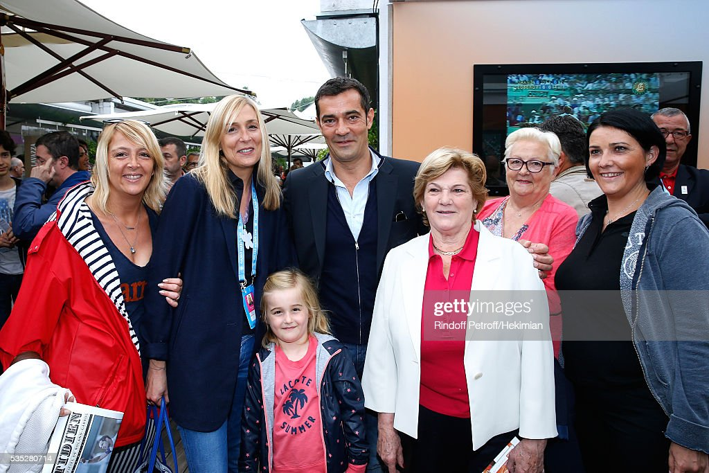 Lacoste Thierry Guibert and family attend Day Height of the 2016 French Tennis Open at Roland Garros on May 29, 2016 in Paris, France.
