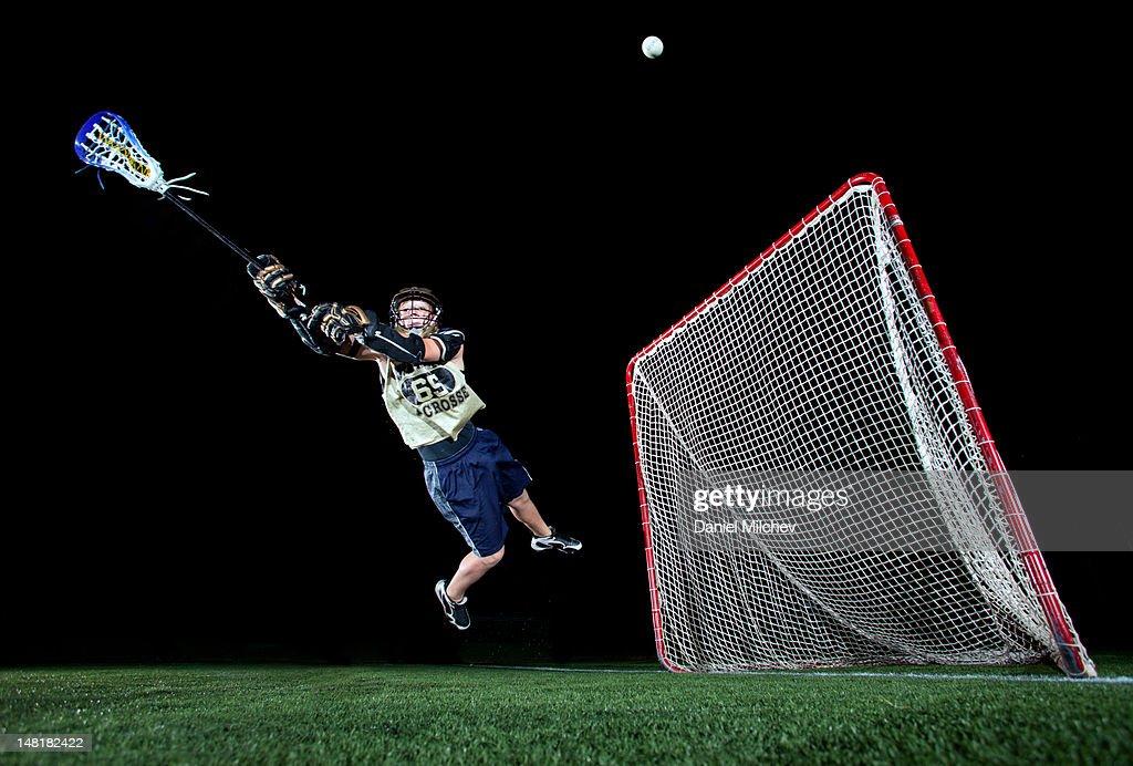 Lacrosse player : Stock Photo