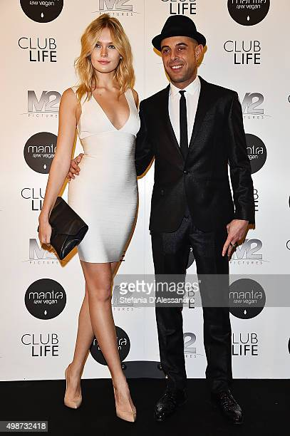 Lada Kravchenko and Luca Garbero attend a premiere for 'Club Life' on November 25 2015 in Milan Italy