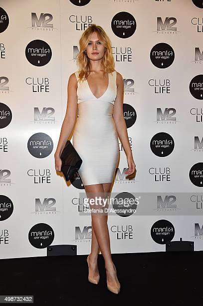 Lada Kravchenko attends a premiere for 'Club Life' on November 25 2015 in Milan Italy