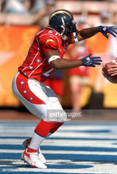 LaDainian Tomlinson of the AFC in action against the NFC during the NFL Pro Bowl Game February 12 2006 at Aloha Stadium in Honolulu Hawaii The NFC...