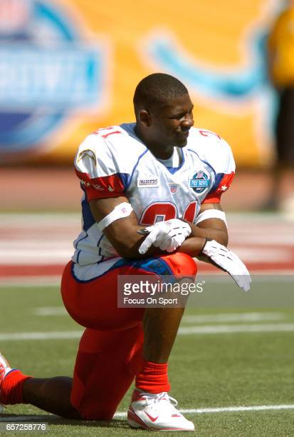 LaDainian Tomlinson of the AFC looks on prior to the start of the NFL Pro Bowl Game against the NFC February 10 2007 at Aloha Stadium in Honolulu...
