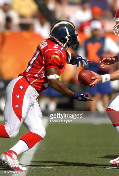 LaDainian Tomlinson of the AFC takes the handoff against the NFC during the NFL Pro Bowl Game February 12 2006 at Aloha Stadium in Honolulu Hawaii...