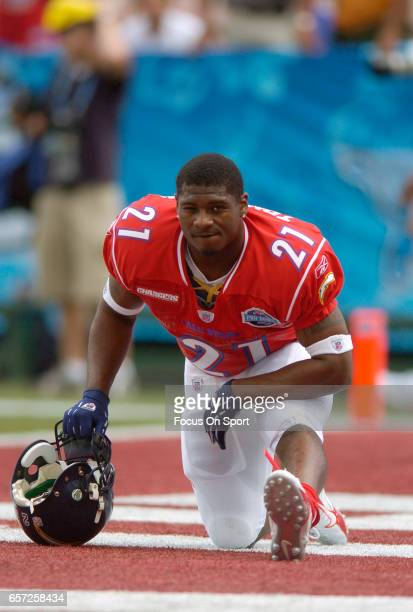 LaDainian Tomlinson of the AFC warms up prior to the start of the NFL Pro Bowl Game against the NFC February 12 2006 at Aloha Stadium in Honolulu...