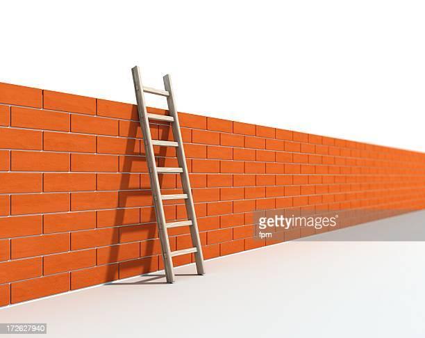 Leiter und Wand ich