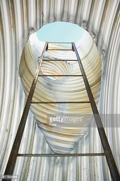 Ladder Inside Steel Pipe