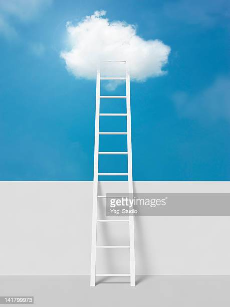 Ladder leading to clouds