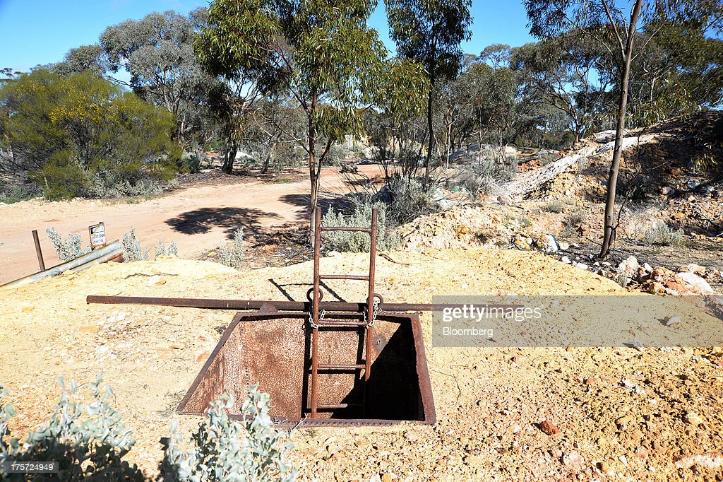 A ladder leads down a mine shaft at the Phoenix Gold Ltd. Castle Hill gold project in Kunanalling, northwest of Kalgoorlie, Australia, on Tuesday, Aug. 6, 2013. Gold prices will rebound as output remains little changed or declines this year with producers cutting spending and shuttering some costly operations, the World Gold Council said. Photographer: Carla Gottgens/Bloomberg via Getty Images