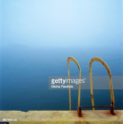 Ladder near ocean : Stock Photo