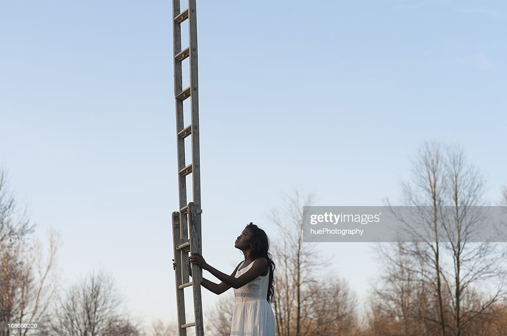 Ladder to the Sky : Stock Photo