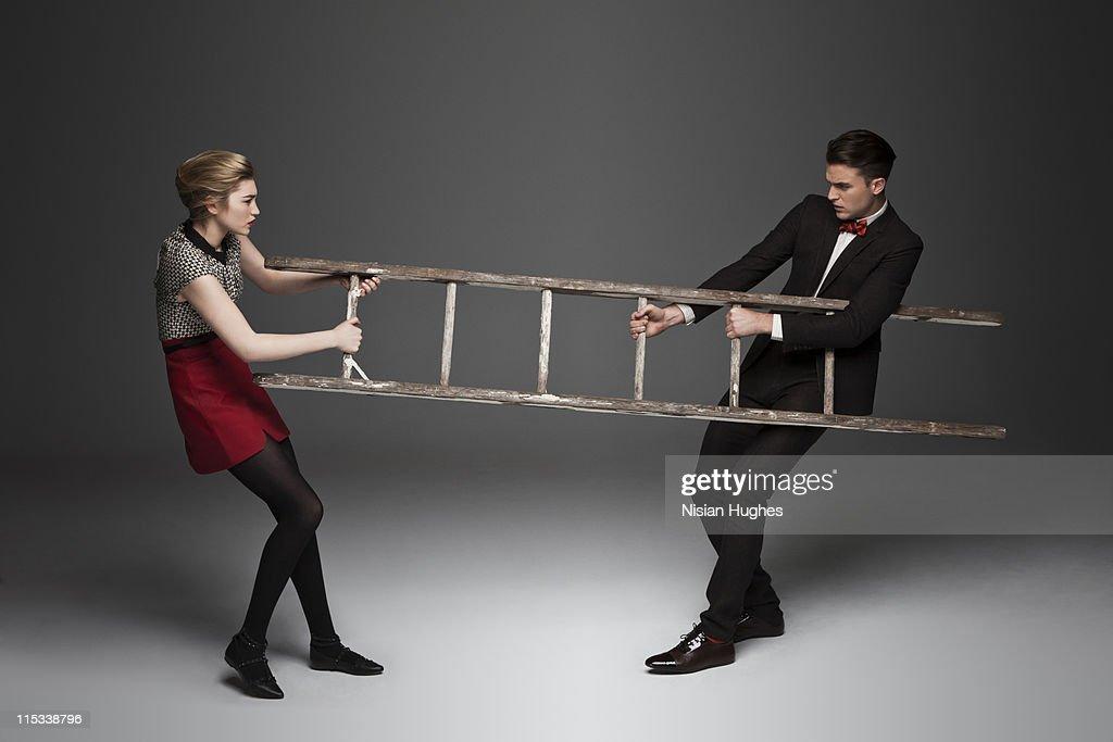 ladder tug of war