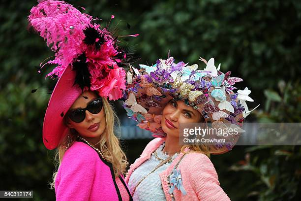 Ladies attend on day 2 of Royal Ascot at Ascot Racecourse on June 15 2016 in Ascot England