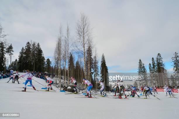 Ladies crosscountry 30 km Mass Start Free final at FIS Nordic World Ski Championship 2017 in Lahti On Saturday March 04 in Lahti Finland