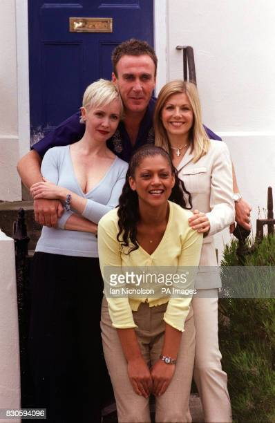 Ladies from left Lysette Anthony Cathy Tyson and Glynis Barber with Joe McGann from the new ITV Soap Night and Day