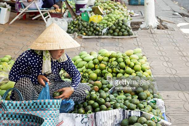 Ladies in a market stall