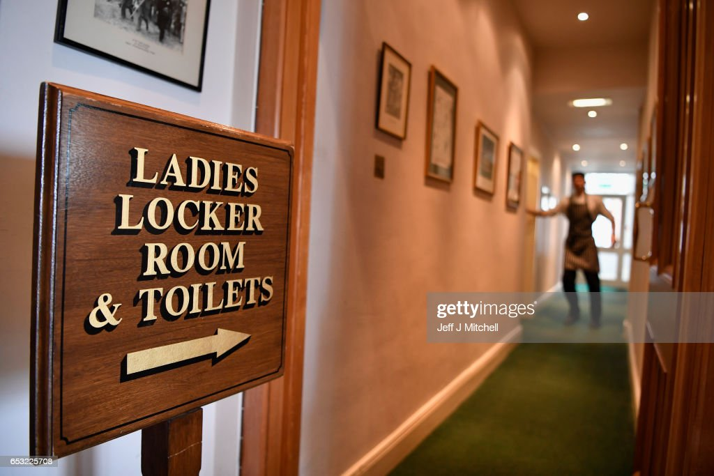 A ladies locker romm sign inside Muirfield Golf Club on March 14, 2017 in Gullane, Scotland. Muirfield golf club members have voted to admit women members after the privately owned club voted eighty percent in favour in updating the membership policy.