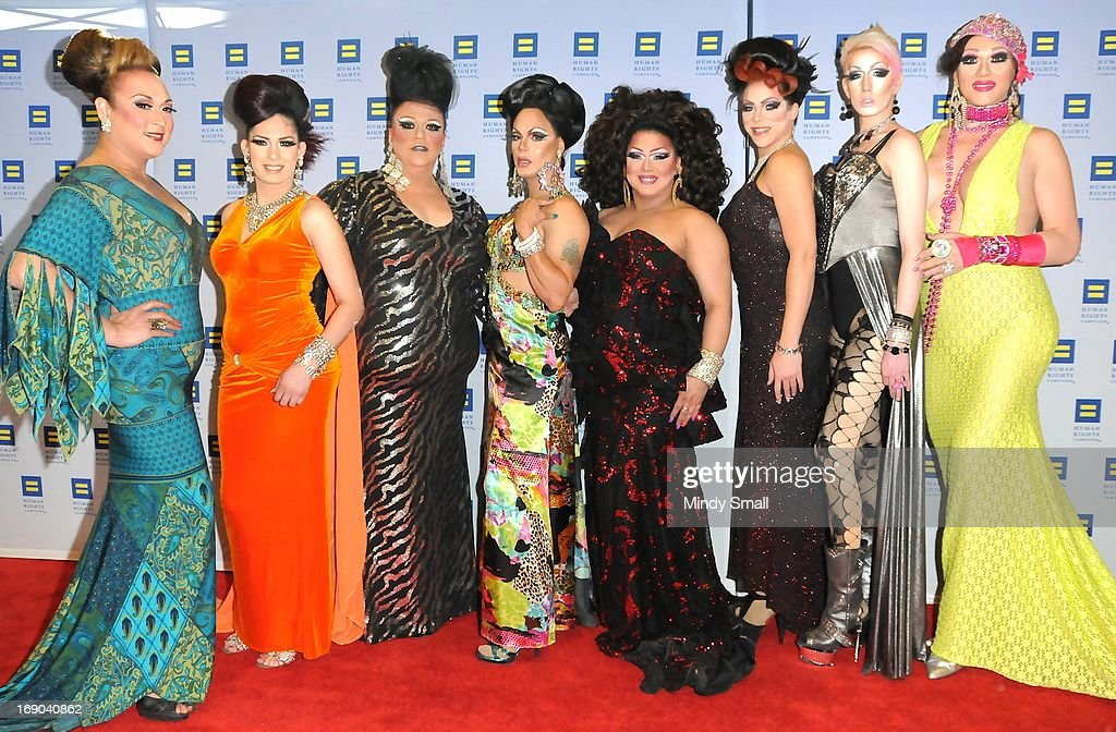 Ladies of Drink & Drag attend the 8th Annual Human Rights Campaign Dinner Gala at the Aria Resort & Casino on May 18, 2013 in Las Vegas, Nevada.