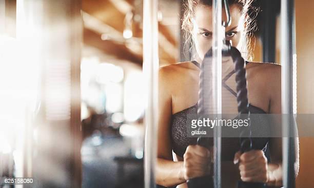 Ladies workout.